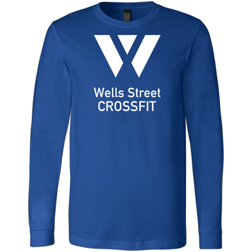 Wells Street CrossFit - 100 - Stacked - Bella + Canvas 3501 - Men's Long Sleeve Jersey Tee