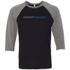 CrossFit Sandusky - 202 - Standard - Bella + Canvas - Men's Three-Quarter Sleeve Baseball T-Shirt