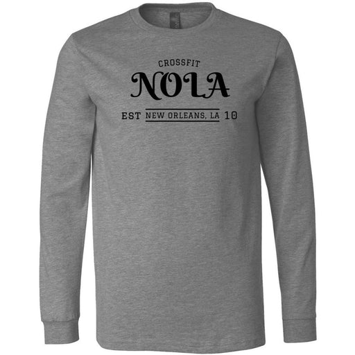 CrossFit NOLA - 100 - UU2 - Bella + Canvas 3501 - Men's Long Sleeve Jersey Tee