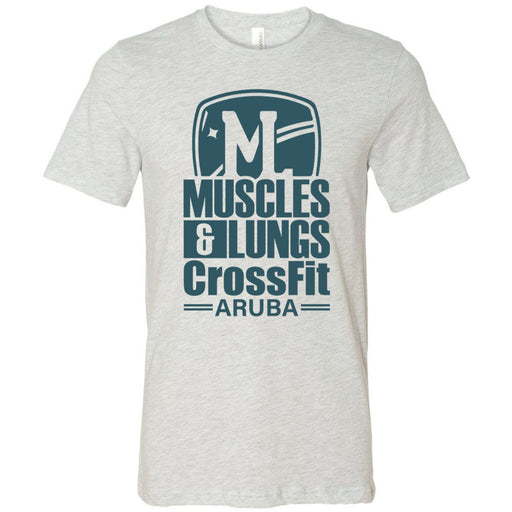 Muscles & Lungs CrossFit - 100 - Teal - Bella + Canvas - Men's Short Sleeve Jersey Tee