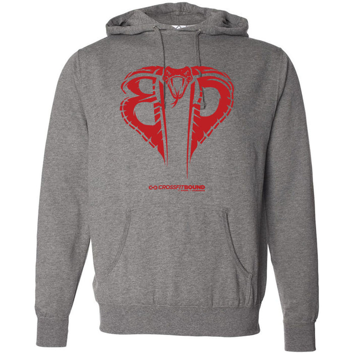 CrossFit Bound - 100 - Cobra Red - Independent - Hooded Pullover Sweatshirt