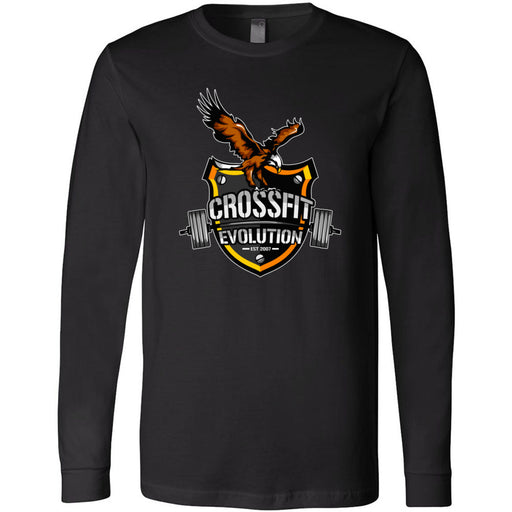 CrossFit Evolution - 100 - Eagle - Bella + Canvas 3501 - Men's Long Sleeve Jersey Tee
