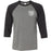 CrossFit I35 - 202 - Athletic White - Bella + Canvas - Men's Three-Quarter Sleeve Baseball T-Shirt