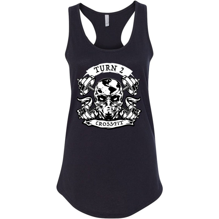 Turn 2 CrossFit - 100 - Strong People - Next Level - Women's Ideal Racerback Tank