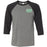 CrossFit T23 - 100 - Pocket - Bella + Canvas - Men's Three-Quarter Sleeve Baseball T-Shirt