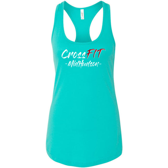 CrossFit Mid Hudson - Graffiti Stacked - Next Level - Women's Ideal Racerback Tank