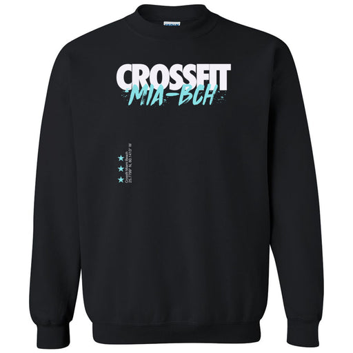 Reebok CrossFit Miami Beach - 100 - Cyan - Gildan - Heavy Blend Crewneck Sweatshirt