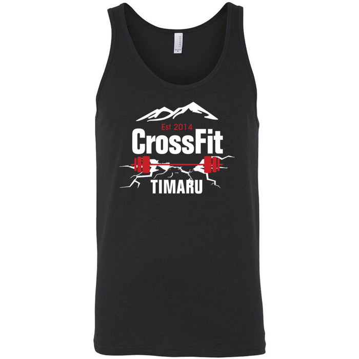 CrossFit Timaru - 100 - Barbell - Bella + Canvas - Men's Jersey Tank