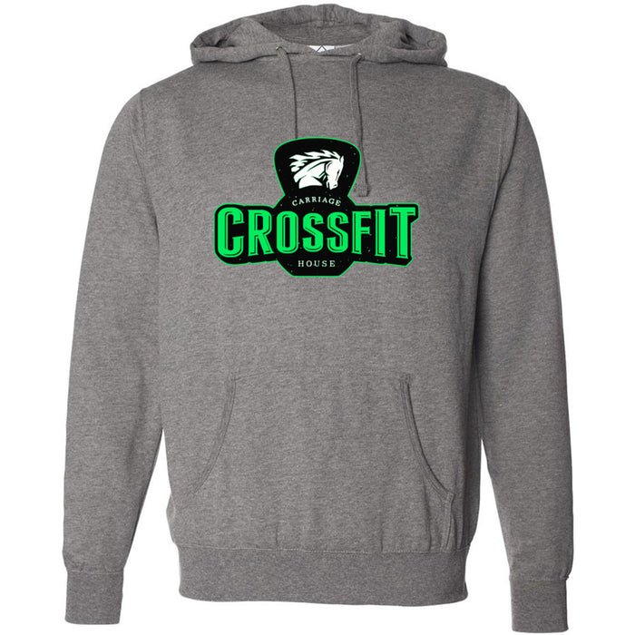 Carriage House CrossFit - 100 - Green - Independent - Hooded Pullover Sweatshirt