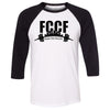 Flower City CrossFit - 100 - City - Bella + Canvas - Men's Three-Quarter Sleeve Baseball T-Shirt