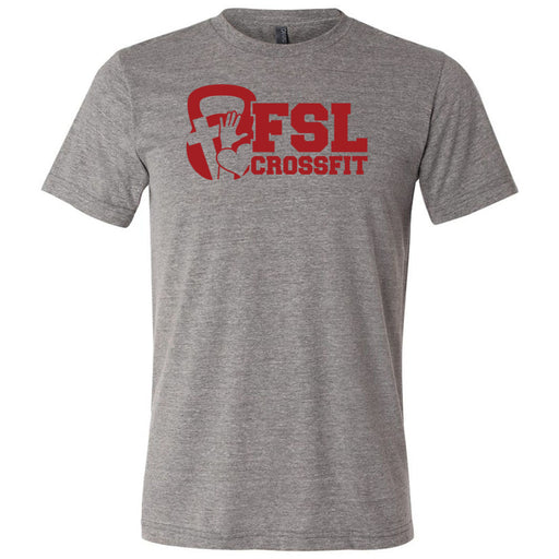 FSL CrossFit - 100 - Red - Bella + Canvas - Men's Triblend Short Sleeve Tee