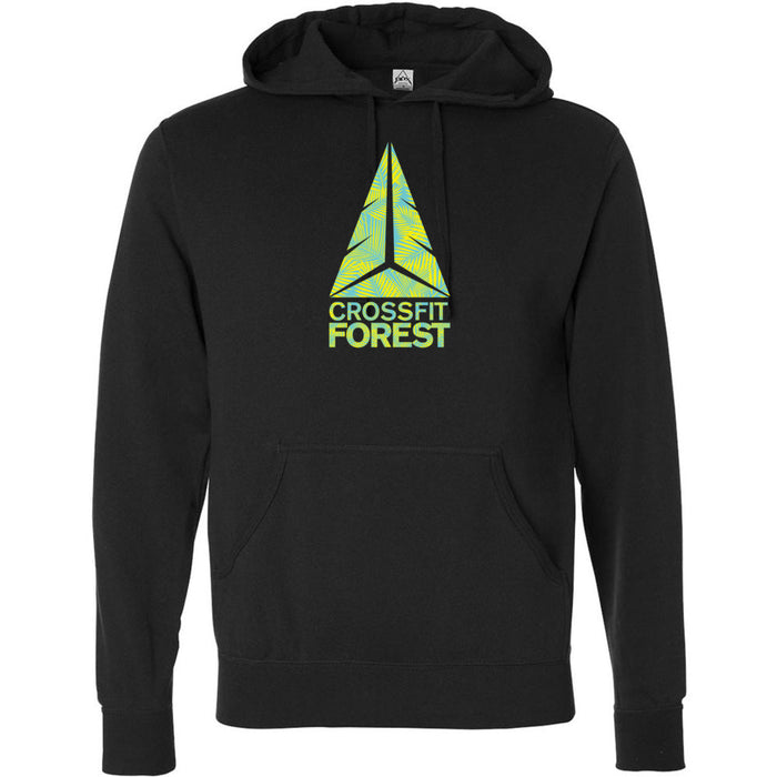 CrossFit Forest - 100 - Palms Neon Green - Independent - Hooded Pullover Sweatshirt