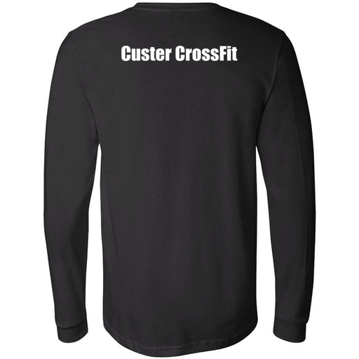 Custer CrossFit - 202 - Standard - Bella + Canvas 3501 - Men's Long Sleeve Jersey Tee
