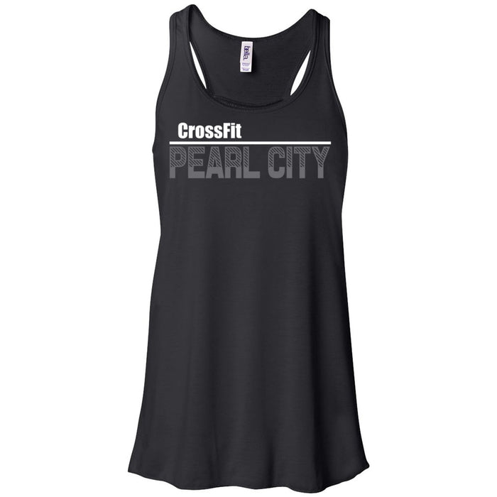CrossFit Oahu - 100 - Pearl City Gray - Bella + Canvas - Women's Flowy Racerback Tank