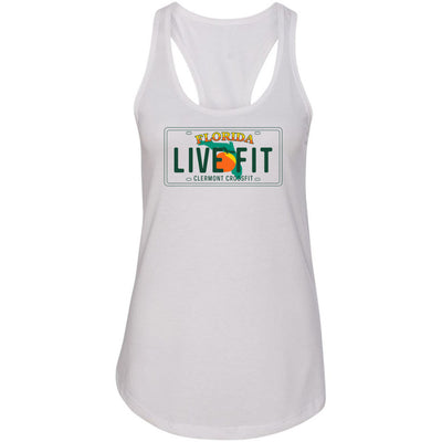 Clermont CrossFit - License Plate - Next Level - Women's Ideal Racerback Tank
