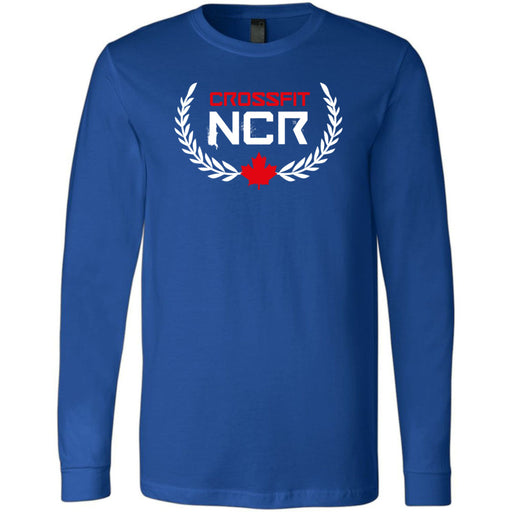CrossFit NCR - 100 - Standard - Bella + Canvas 3501 - Men's Long Sleeve Jersey Tee