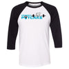 CrossFit Potcake - 100 - Standard - Bella + Canvas - Men's Three-Quarter Sleeve Baseball T-Shirt