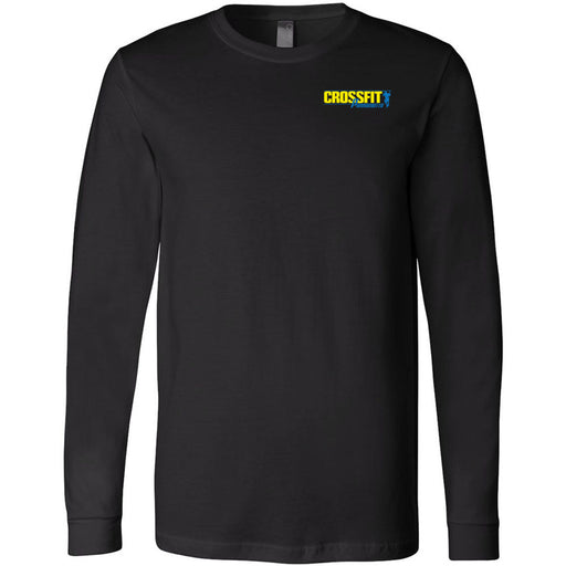 CrossFit Parramatta - 100 -  Pocket - Bella + Canvas 3501 - Men's Long Sleeve Jersey Tee
