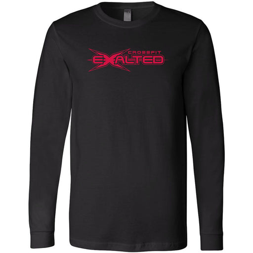 CrossFit Exalted - 100 - Red - Bella + Canvas 3501 - Men's Long Sleeve Jersey Tee