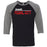 CrossFit Oahu - 202 - Pearl City Red - Bella + Canvas - Men's Three-Quarter Sleeve Baseball T-Shirt