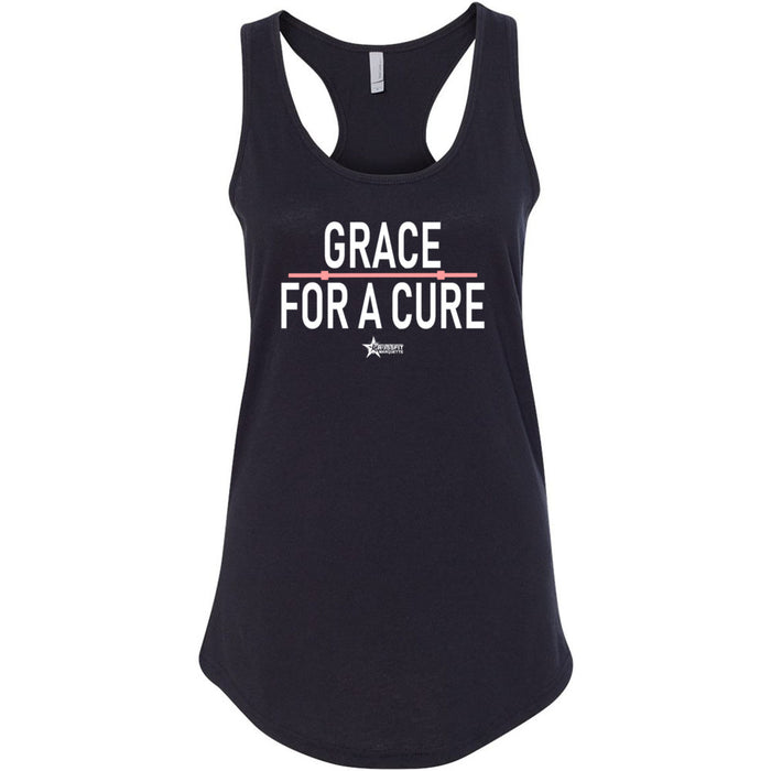 CrossFit Marquette - 100 - Grace For A Cure Barbell - Next Level - Women's Ideal Racerback Tank