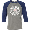 Seven Devils CrossFit - 100 - Standard - Bella + Canvas - Men's Three-Quarter Sleeve Baseball T-Shirt
