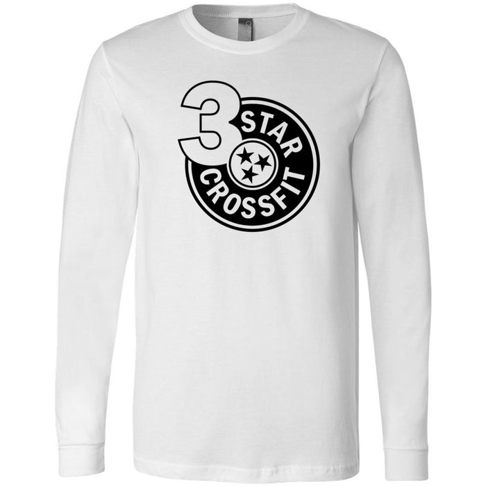 3 Star CrossFit - 100 - One Color - Bella + Canvas 3501 - Men's Long Sleeve Jersey Tee
