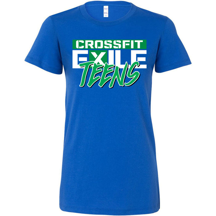 CrossFit Exile - 100 - Teens Green - Bella + Canvas - Women's The Favorite Tee