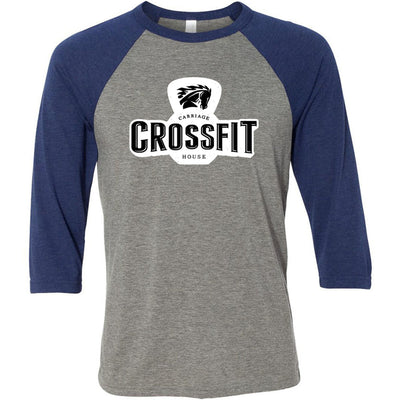 Carriage House CrossFit - 100 - Standard - Bella + Canvas - Men's Three-Quarter Sleeve Baseball T-Shirt