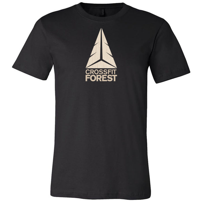 CrossFit Forest - 100 - Wood Grain Pale - Bella + Canvas - Men's Short Sleeve Jersey Tee