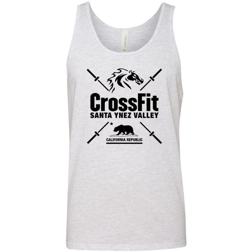 CrossFit Santa Ynez Valley - 100 - Barbell - Bella + Canvas - Men's Jersey Tank