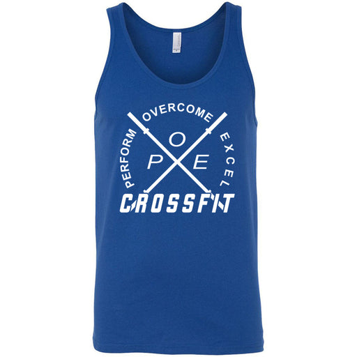 Perform Overcome Excel CrossFit - 100 - White - Bella + Canvas - Men's Jersey Tank