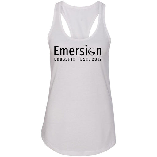Emersion CrossFit - 100 - Black - Next Level - Women's Ideal Racerback Tank