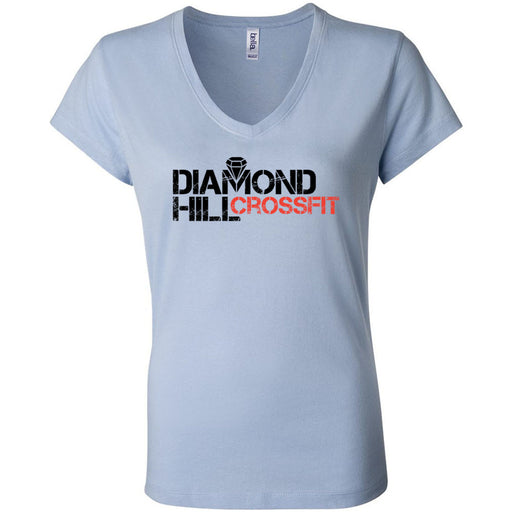 Diamond Hill CrossFit - 100 - Standard - Bella + Canvas - Women's Short Sleeve Jersey V-Neck Tee