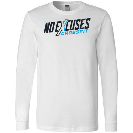 No Excuses CrossFit - 100 - Standard - Bella + Canvas 3501 - Men's Long Sleeve Jersey Tee