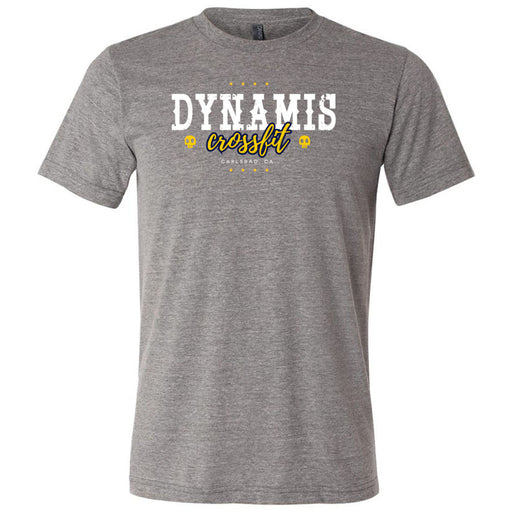 Dynamis CrossFit - 100 - Pistol Grip Pump - Bella + Canvas - Men's Triblend Short Sleeve Tee