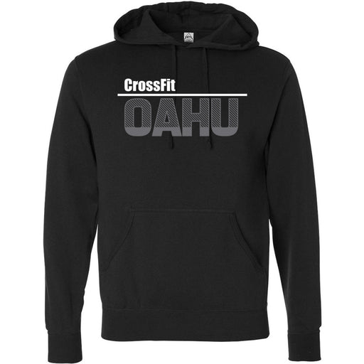 CrossFit Oahu - 201 - HI White Gray - Independent - Hooded Pullover Sweatshirt