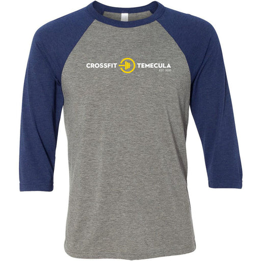 CrossFit Temecula - 100 - Standard - Bella + Canvas - Men's Three-Quarter Sleeve Baseball T-Shirt