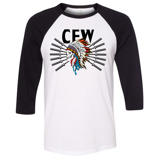 CrossFit Waukee - 202 - Tribe - Bella + Canvas - Men's Three-Quarter Sleeve Baseball T-Shirt