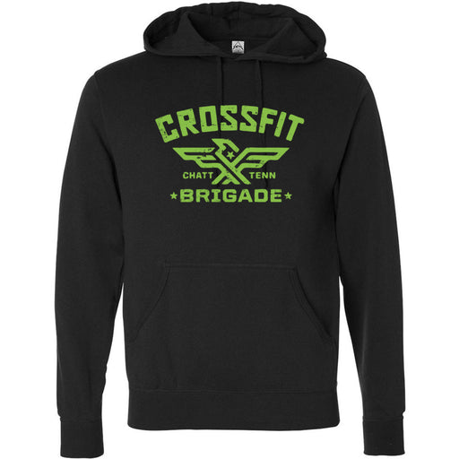 CrossFit Brigade - 100 - Peridot Green - Independent - Hooded Pullover Sweatshirt