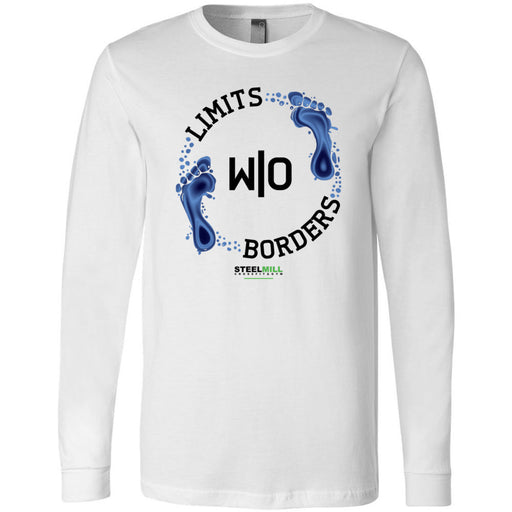 Steel Mill CrossFit Fleming Island - 100 - Limits Without Borders - Bella + Canvas 3501 - Men's Long Sleeve Jersey Tee