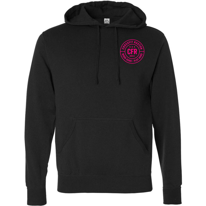 CrossFit Ruston - 201 - Work Hard Pink - Independent - Hooded Pullover Sweatshirt