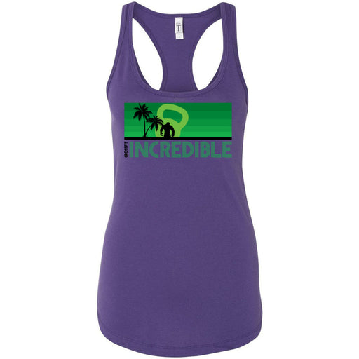 CrossFit Incredible - 100 - Green - Next Level - Women's Ideal Racerback Tank