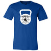 CrossFit BrownNGold - 100 - Kettlebell - Bella + Canvas - Men's Short Sleeve Jersey Tee