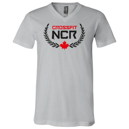 CrossFit NCR - 100 - Standard - Bella + Canvas - Men's Short Sleeve V-Neck Jersey Tee