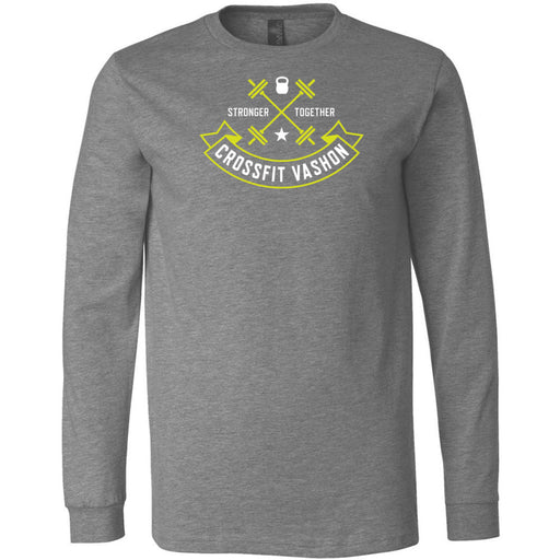 CrossFit Vashon - 100 - Standard - Bella + Canvas 3501 - Men's Long Sleeve Jersey Tee