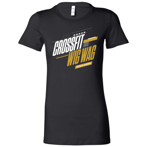 CrossFit Wig Wag - 100 - 2020 Open 20.1 Gold - Bella + Canvas - Women's The Favorite Tee