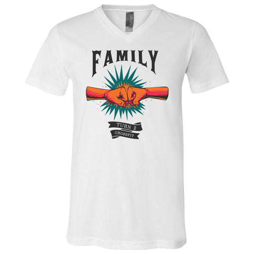 Turn 2 CrossFit - 100 - Family - Bella + Canvas - Men's Short Sleeve V-Neck Jersey Tee
