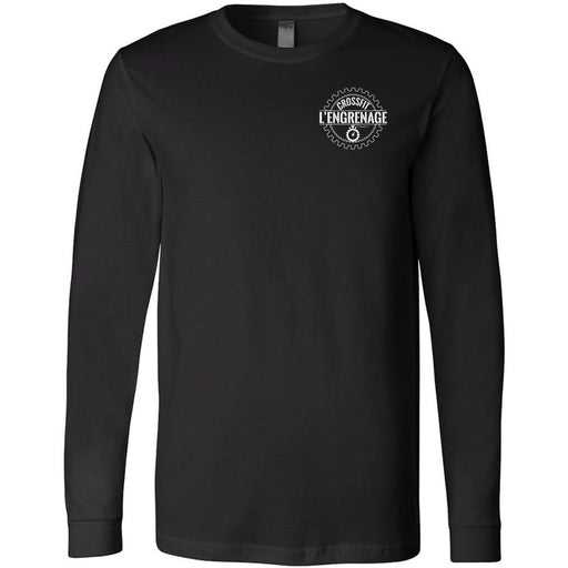 CrossFit L'Engrenage - 100 - Pocket - Bella + Canvas 3501 - Men's Long Sleeve Jersey Tee