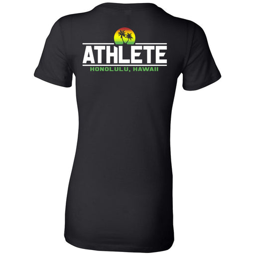 CrossFit Oahu - 200 - Sunrise Rasta - Bella + Canvas - Women's The Favorite Tee